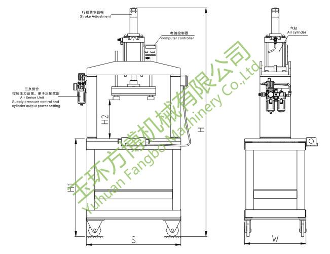 fby-h05/h10/h15 静音微震动液压冲床(楼层环境冲压专用设备)